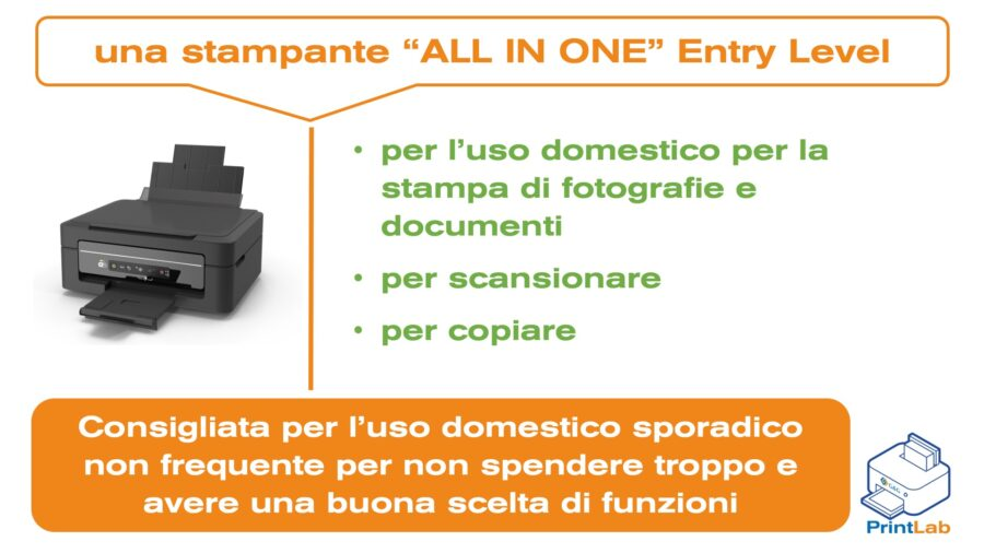 Una Stampante All-In-One Entry Level